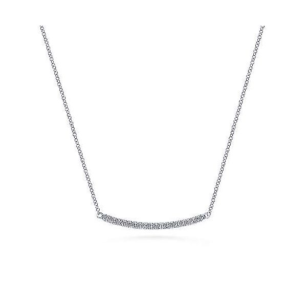 The perfect layering piece! Diamond bar necklace by Gabriel & Co. Holliday Jewelry Klamath Falls, OR