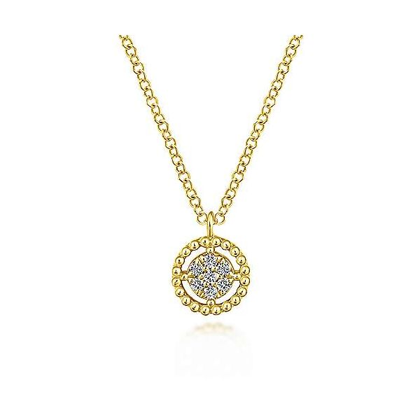 Dazzling floating diamond necklace by Gabriel & Co. Holliday Jewelry Klamath Falls, OR