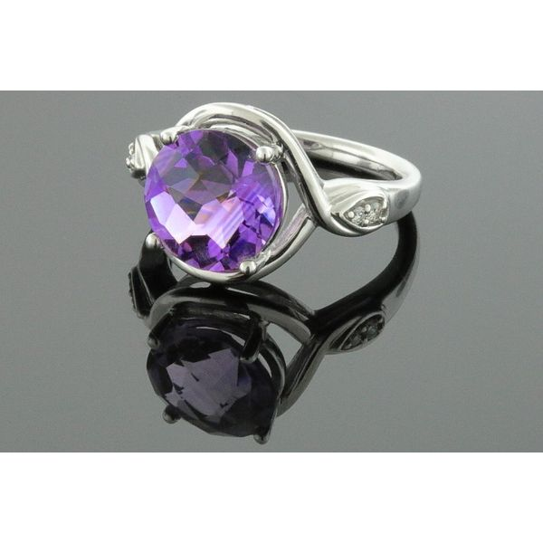 Amethyst and diamonds all set in 14 karat white gold Holliday Jewelry Klamath Falls, OR