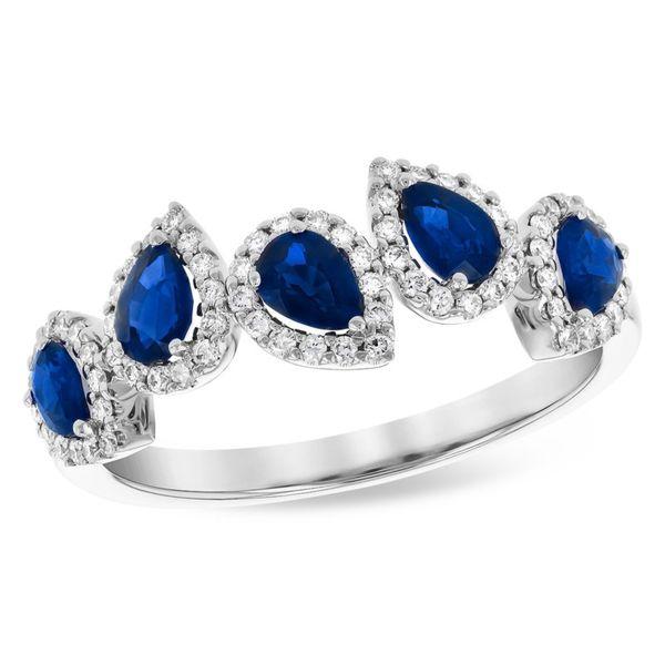 Allison Kaufman blue sapphire and diamond ring Holliday Jewelry Klamath Falls, OR