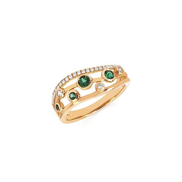 Emerald and diamond ring. Holliday Jewelry Klamath Falls, OR