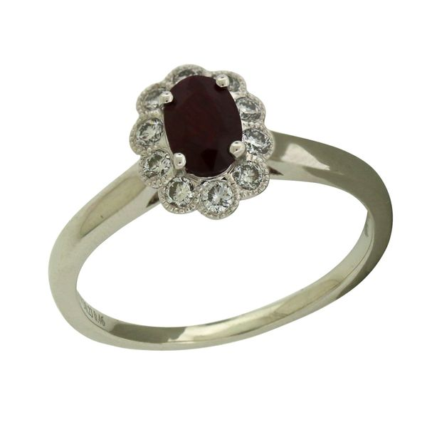 Ruby and diamond ring. Holliday Jewelry Klamath Falls, OR