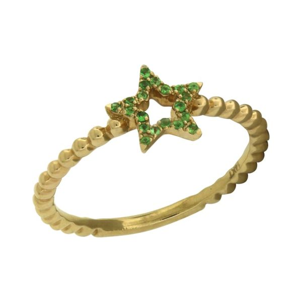 Star ring with emeralds. Holliday Jewelry Klamath Falls, OR