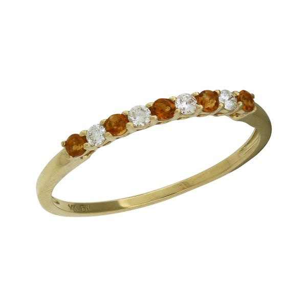 Band with alternating citrine and diamond's. Holliday Jewelry Klamath Falls, OR