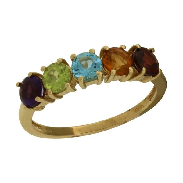 Multi-colored stone ring. Holliday Jewelry Klamath Falls, OR
