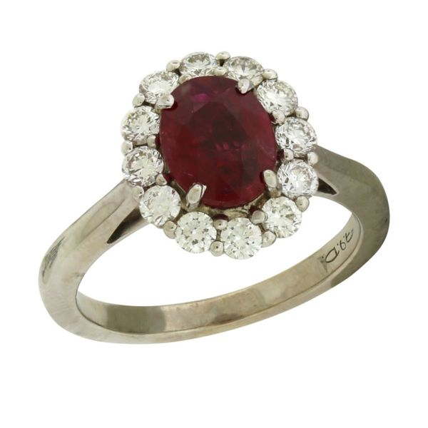 White Gold Ruby Ring  Holliday Jewelry Klamath Falls, OR