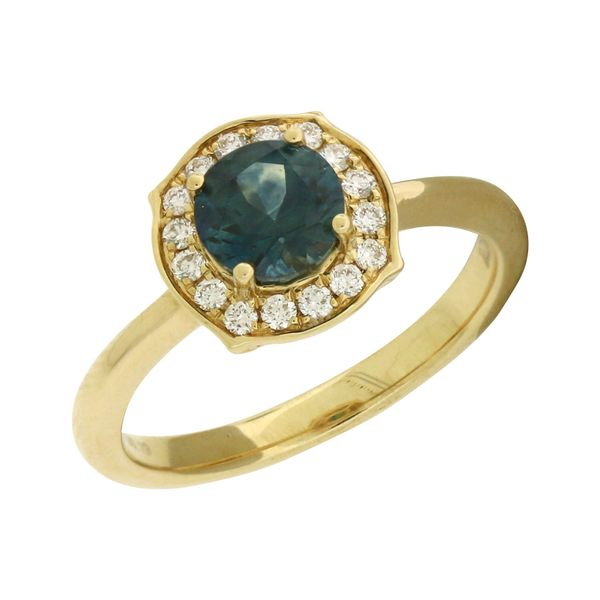 Montana sapphire ring with diamonds Holliday Jewelry Klamath Falls, OR