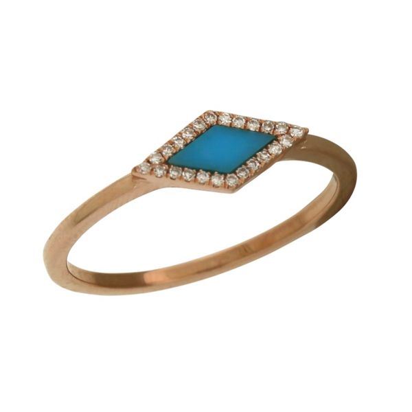 Beautiful Mastini turquoise and diamond ring. Holliday Jewelry Klamath Falls, OR