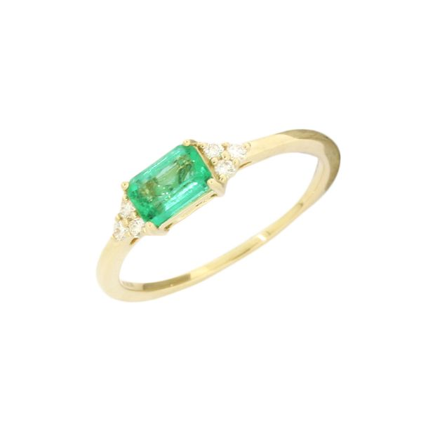 Classic emerald and diamond ring. Holliday Jewelry Klamath Falls, OR