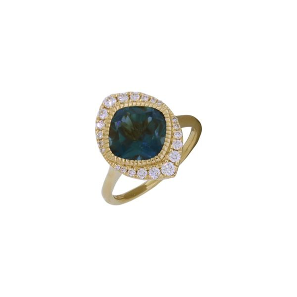 Show-stopping blue topaz and diamond ring. Holliday Jewelry Klamath Falls, OR