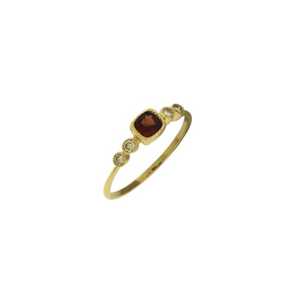 Petite genuine Garnet and diamond ring. Holliday Jewelry Klamath Falls, OR