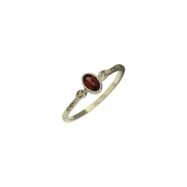 Antique inspired Garnet and diamond ring. Holliday Jewelry Klamath Falls, OR