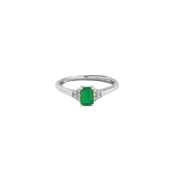 Beautiful emerald cut emerald and diamond ring. Holliday Jewelry Klamath Falls, OR