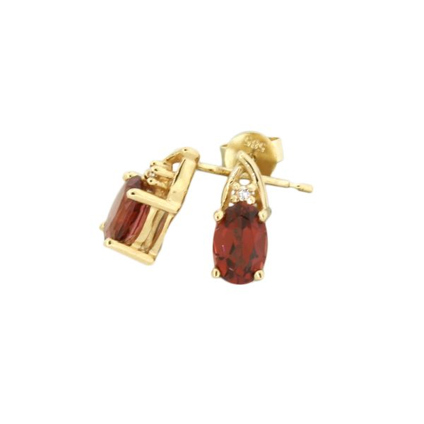 Beautiful rhodolite garnet and diamond earrings Holliday Jewelry Klamath Falls, OR