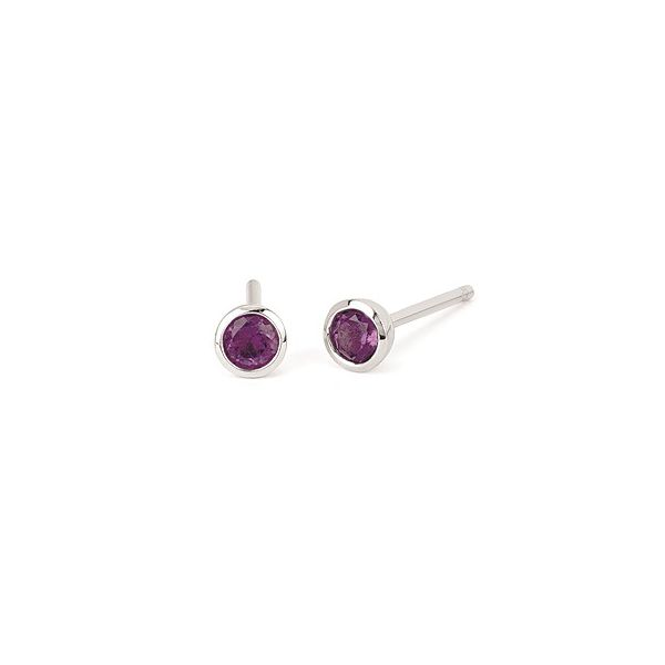 Genuine Amethyst solitaire earrings. Holliday Jewelry Klamath Falls, OR