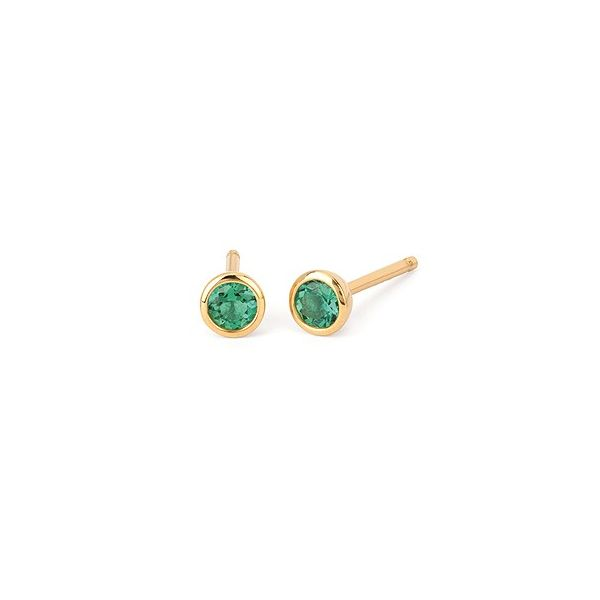 Laboratory created emerald earrings. Holliday Jewelry Klamath Falls, OR