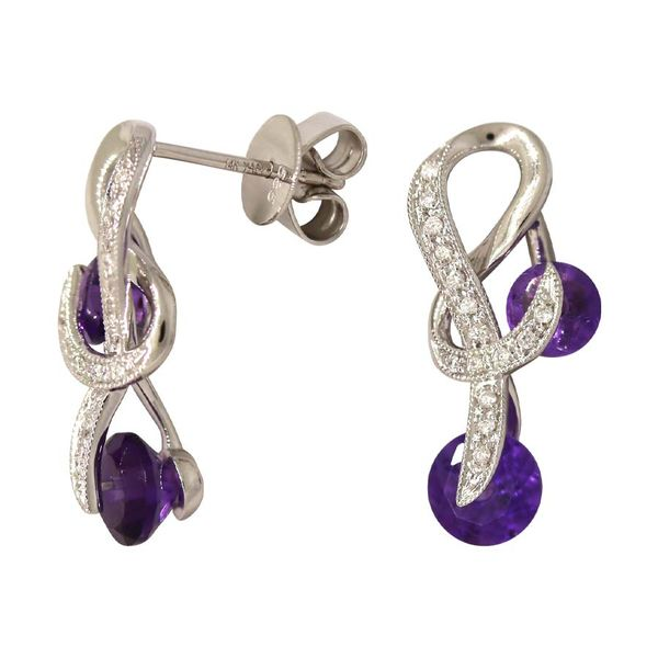 Yael Fairy Tale collection amethyst earrings. Holliday Jewelry Klamath Falls, OR