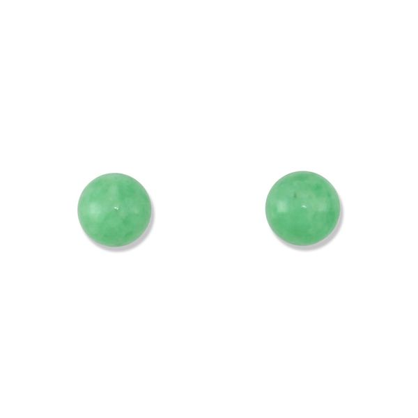Green jade solitaire earrings. Holliday Jewelry Klamath Falls, OR