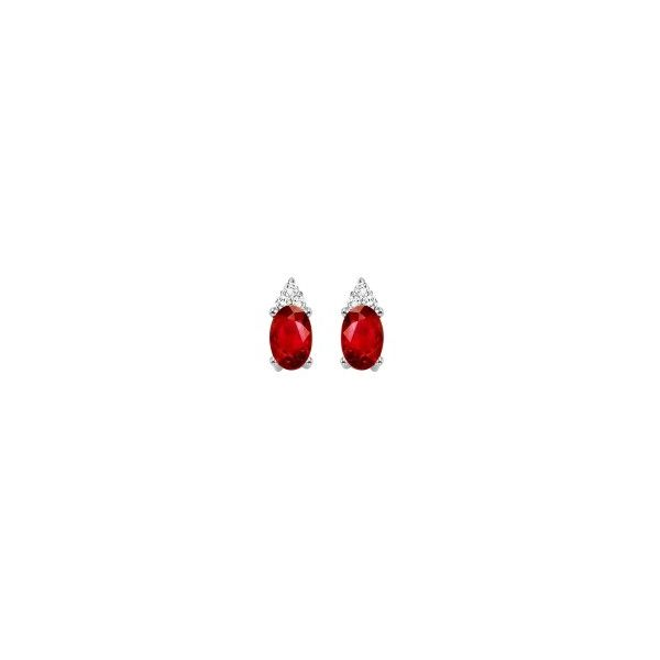Traditonal garnet and diamond earrings. Holliday Jewelry Klamath Falls, OR