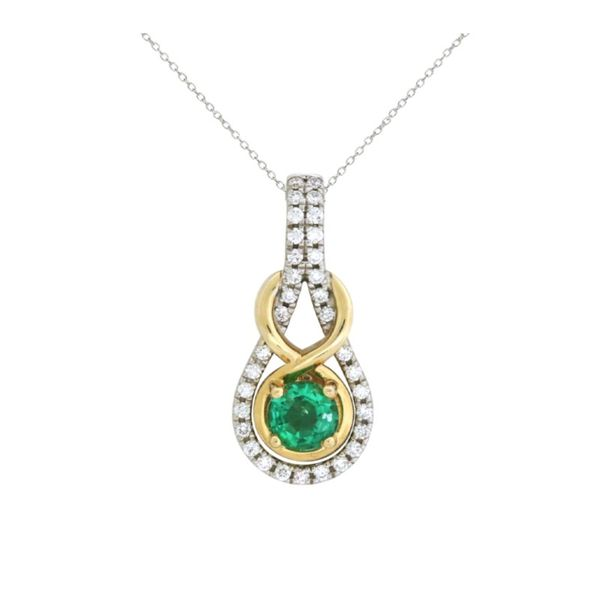 Gorgeous two-tone emerald and diamond necklace Holliday Jewelry Klamath Falls, OR