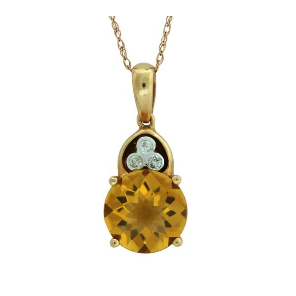Rose gold citrine pendant. Holliday Jewelry Klamath Falls, OR