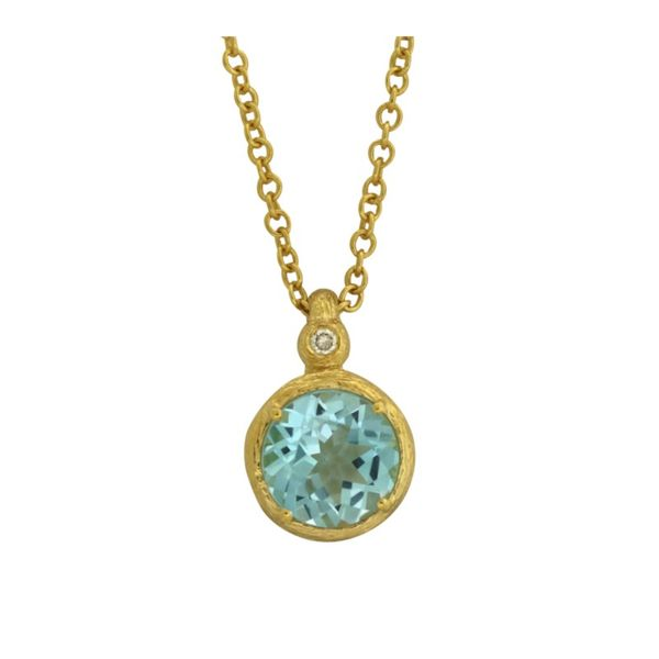 Cherie Dori blue topaz pendant. Holliday Jewelry Klamath Falls, OR