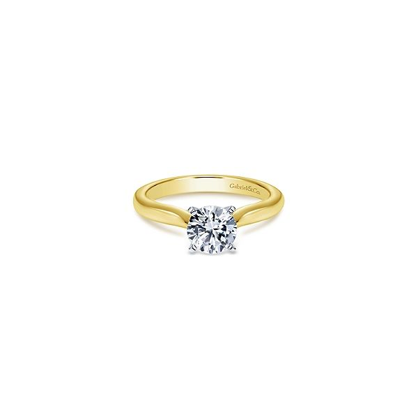 Classic solitaire diamond ring by Gabriel & Co. *Center not included. Holliday Jewelry Klamath Falls, OR