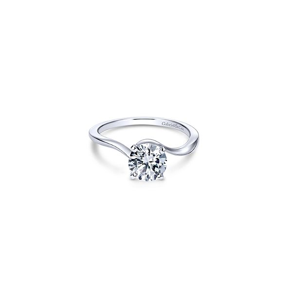 Classic solitaire ring by Gabriel & Co. *Center not included. Holliday Jewelry Klamath Falls, OR