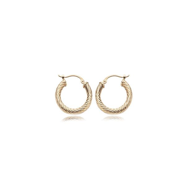 Beautiful twisted tube hoop earrings. Holliday Jewelry Klamath Falls, OR
