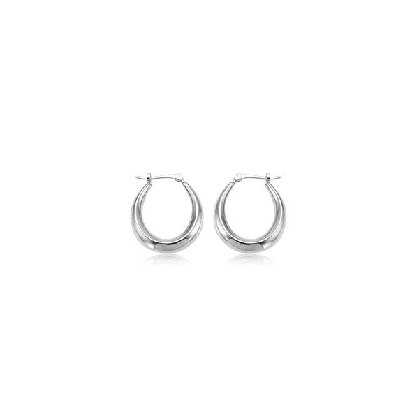 Small u-shaped hoop earrings. Holliday Jewelry Klamath Falls, OR