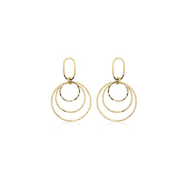 Triple circle hoop earrings. Holliday Jewelry Klamath Falls, OR