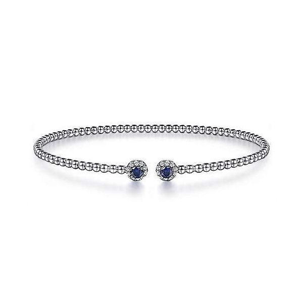 Sapphire and diamond Gabriel & Co bracelet. Holliday Jewelry Klamath Falls, OR