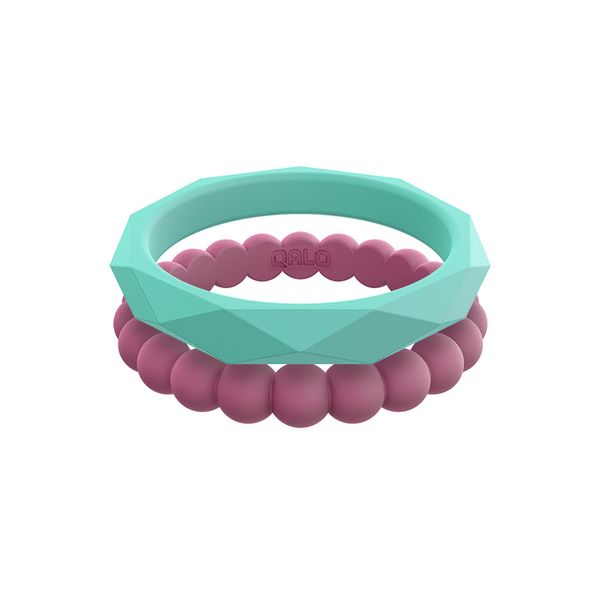 Qalo stackable silicone rings. Holliday Jewelry Klamath Falls, OR