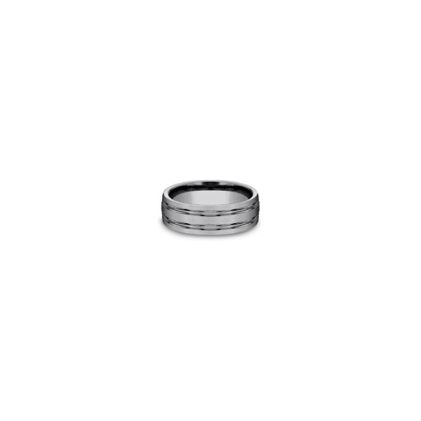 Tungsten double center cut satin finish band. Holliday Jewelry Klamath Falls, OR