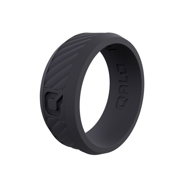 Qalo standard grey traverse silicone ring. Holliday Jewelry Klamath Falls, OR