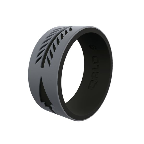 Qalo grey/black arrow silicone ring size. Holliday Jewelry Klamath Falls, OR