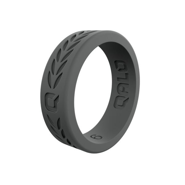 Qalo charcoal laurel silicone ring. Holliday Jewelry Klamath Falls, OR