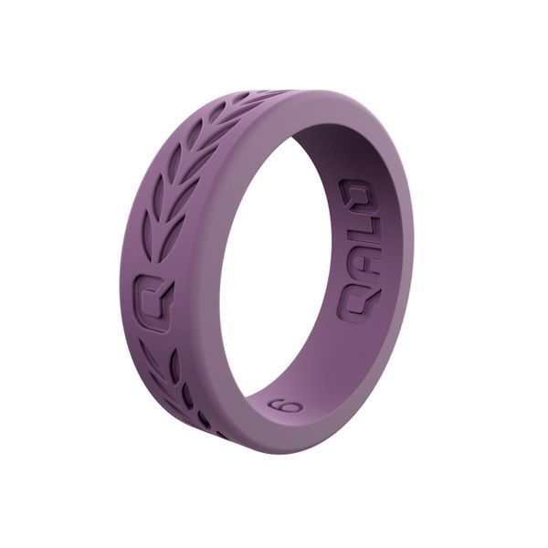 Qalo lilac laurel silicone ring. Holliday Jewelry Klamath Falls, OR