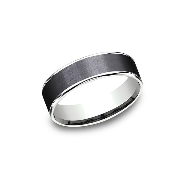 Amara stone white gold and tantalum band. Holliday Jewelry Klamath Falls, OR