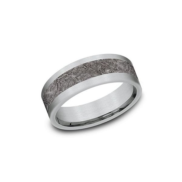 Amara stone white gold and tantalum splatter ring. Holliday Jewelry Klamath Falls, OR
