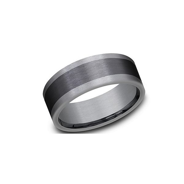 Black and grey tantalum band. Holliday Jewelry Klamath Falls, OR