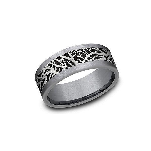 Enchanted forest tantalum band. Holliday Jewelry Klamath Falls, OR