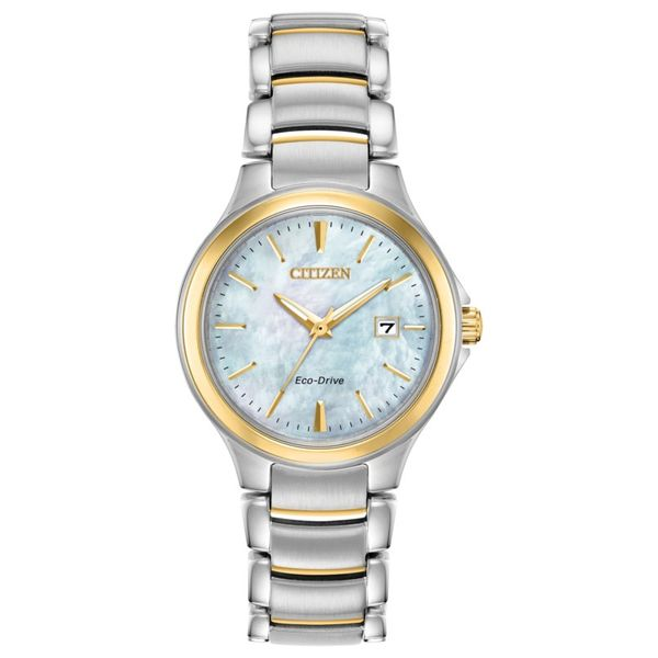 Citizen Eco-Drive blue mother-of-pearl watch. Holliday Jewelry Klamath Falls, OR