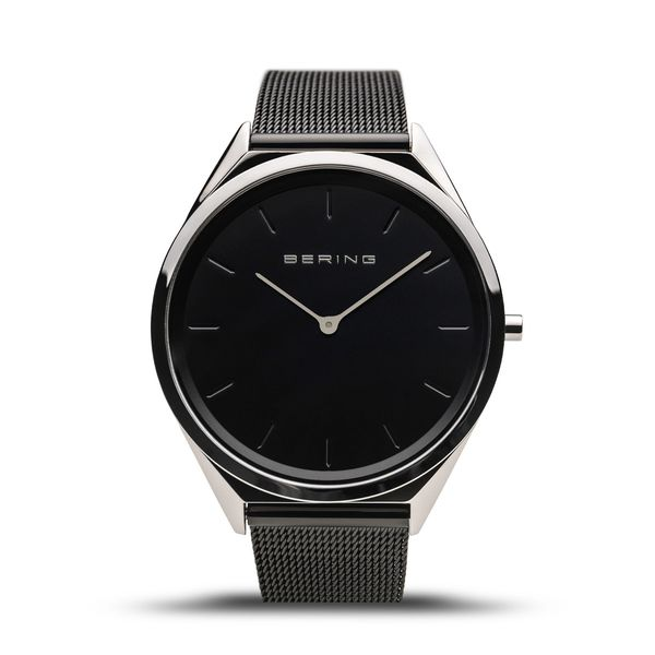 Black and white Bering Time watch. Holliday Jewelry Klamath Falls, OR