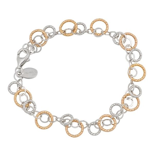 Frederic Duclos two tone sparkle circle bracelet Holliday Jewelry Klamath Falls, OR