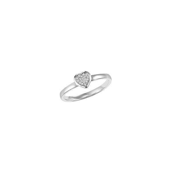 Sterling silver diamond heart ring. Holliday Jewelry Klamath Falls, OR