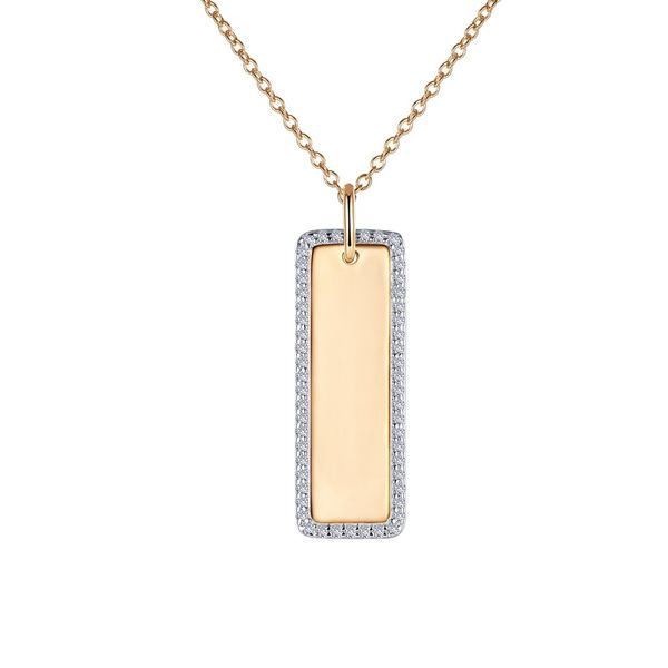 Two-Tone Vertical Bar Pendant Holliday Jewelry Klamath Falls, OR