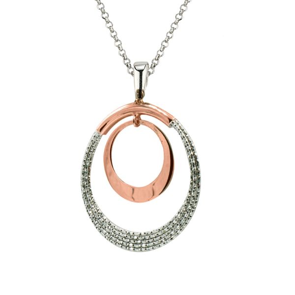 Frederic Duclos two tone double circle necklace Holliday Jewelry Klamath Falls, OR