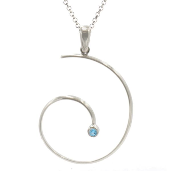 Frederic Duclos blue topaz swirly necklace Holliday Jewelry Klamath Falls, OR