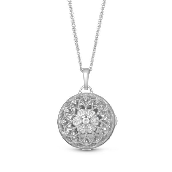 With You Locket, the Elaine, is a two tone sweet and sophisticated locket necklace. Holliday Jewelry Klamath Falls, OR